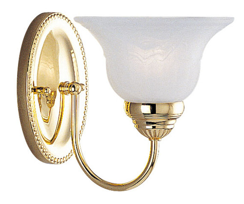 LIVEX Lighting 1531-02 Edgemont Bath Light in Polished Brass (1 Light)