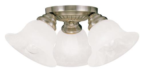 LIVEX Lighting 1529-01 Edgemont Flushmount in Antique Brass (3 Light)