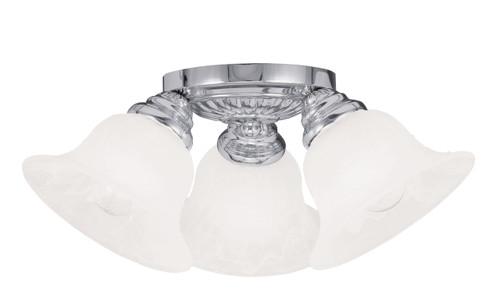 LIVEX Lighting 1529-05 Edgemont Flushmount in Polished Chrome (3 Light)