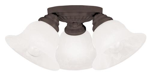LIVEX Lighting 1529-07 Edgemont Flushmount in Bronze (3 Light)