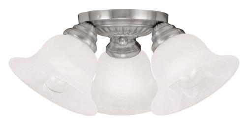 LIVEX Lighting 1529-91 Edgemont Flushmount in Brushed Nickel (3 Light)