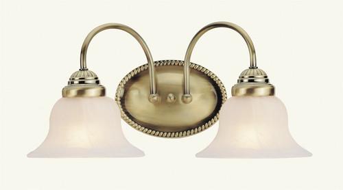 LIVEX Lighting 1532-01 Edgemont Bath Light in Antique Brass (2 Light)