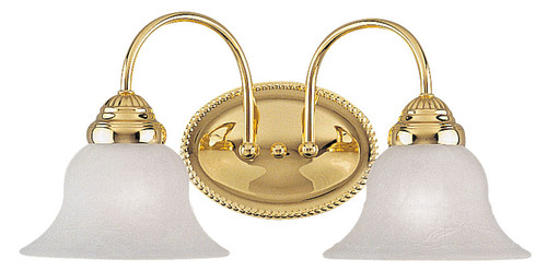 LIVEX Lighting 1532-02 Edgemont Bath Light in Polished Brass (2 Light)