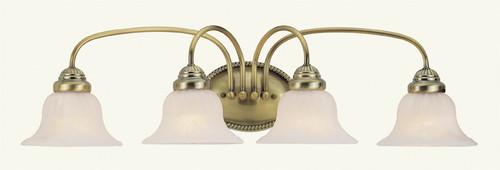 LIVEX Lighting 1534-01 Edgemont Bath Light in Antique Brass (4 Light)