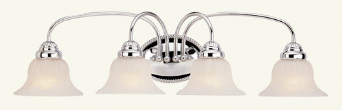 LIVEX Lighting 1534-05 Edgemont Bath Light in Polished Chrome (4 Light)