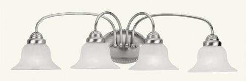 LIVEX Lighting 1534-91 Edgemont Bath Light in Brushed Nickel (4 Light)