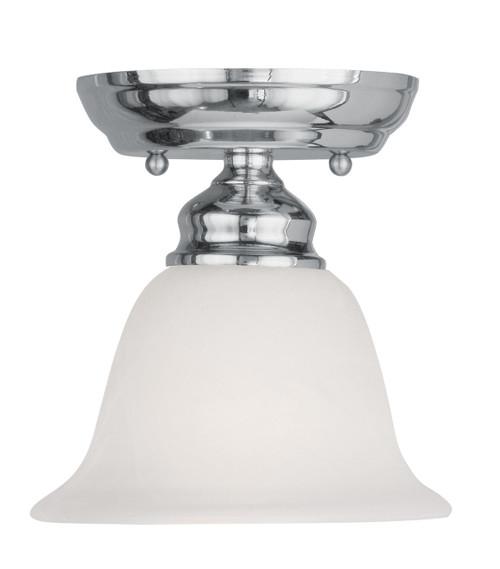 LIVEX Lighting 1350-05 Essex Flushmount in Polished Chrome (1 Light)