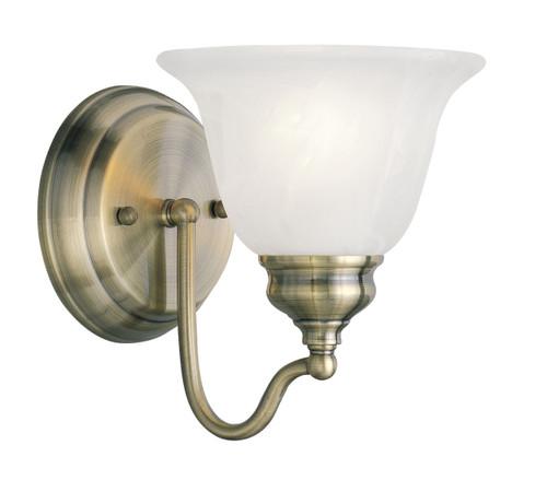 LIVEX Lighting 1351-01 Essex Bath Light in Antique Brass (1 Light)
