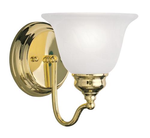LIVEX Lighting 1351-02 Essex Bath Light in Polished Brass (1 Light)