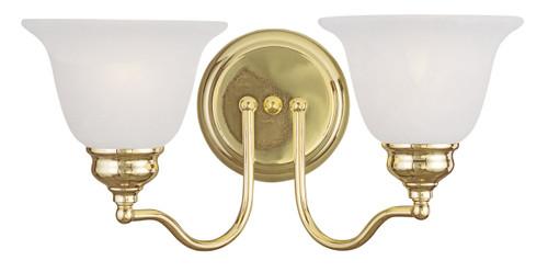 LIVEX Lighting 1352-02 Essex Bath Light in Polished Brass (2 Light)