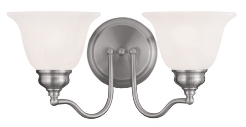 LIVEX Lighting 1352-91 Essex Bath Light in Brushed Nickel (2 Light)