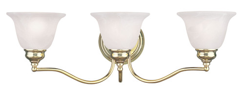 LIVEX Lighting 1353-02 Essex Bath Light in Polished Brass (3 Light)