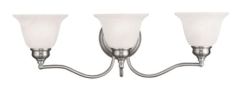 LIVEX Lighting 1353-91 Essex Bath Light in Brushed Nickel (3 Light)