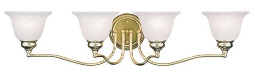 LIVEX Lighting 1354-02 Essex Bath Light in Polished Brass (4 Light)