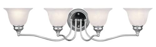 LIVEX Lighting 1354-05 Essex Bath Light in Polished Chrome (4 Light)