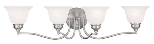 LIVEX Lighting 1354-91 Essex Bath Light in Brushed Nickel (4 Light)