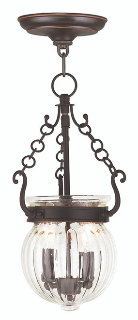 LIVEX Lighting 50503-67 Everett Pendant in Olde Bronze (2 Light)