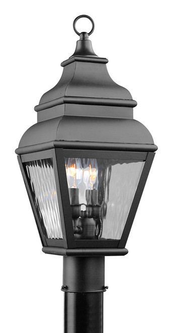 LIVEX Lighting 2603-04 Exeter Outdoor Post Lantern in Black (2 Light)
