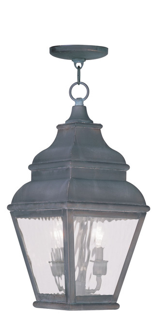LIVEX Lighting 2604-61 Exeter Outdoor Chain Lantern in Charcoal (2 Light)