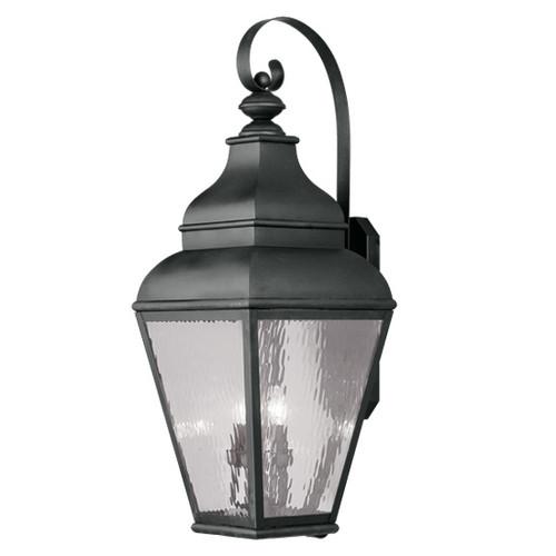 LIVEX Lighting 2607-04 Exeter Outdoor Wall Lantern in Black (4 Light)