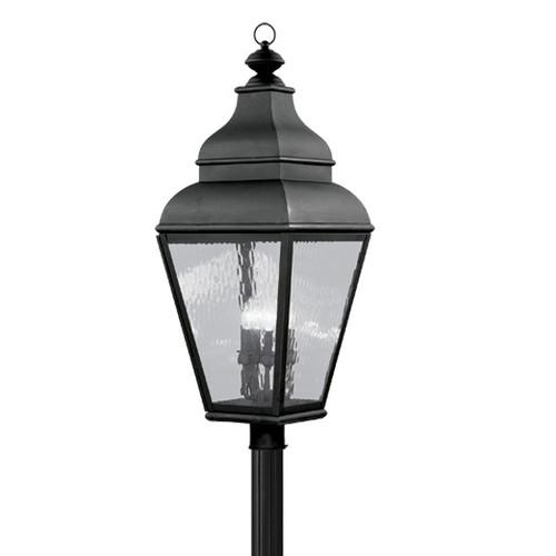 LIVEX Lighting 2608-04 Exeter Outdoor Post Lantern in Black (4 Light)