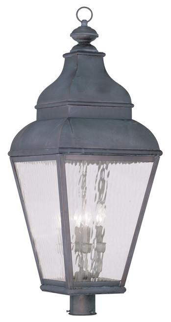 LIVEX Lighting 2608-61 Exeter Outdoor Post Lantern in Bronze (4 Light)