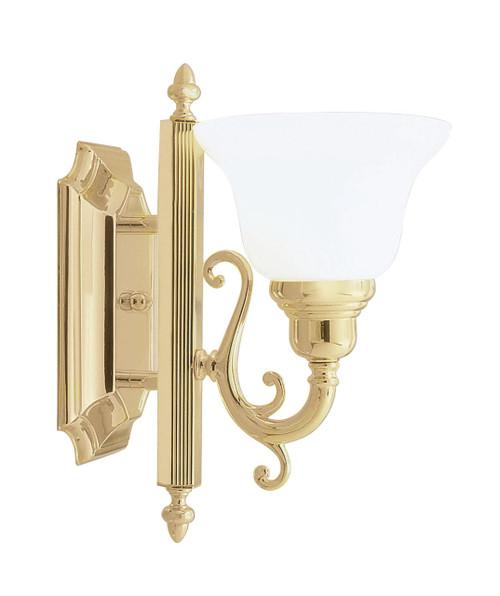 LIVEX Lighting 1281-02 French Regency Bath Light in Polished Brass (1 Light)