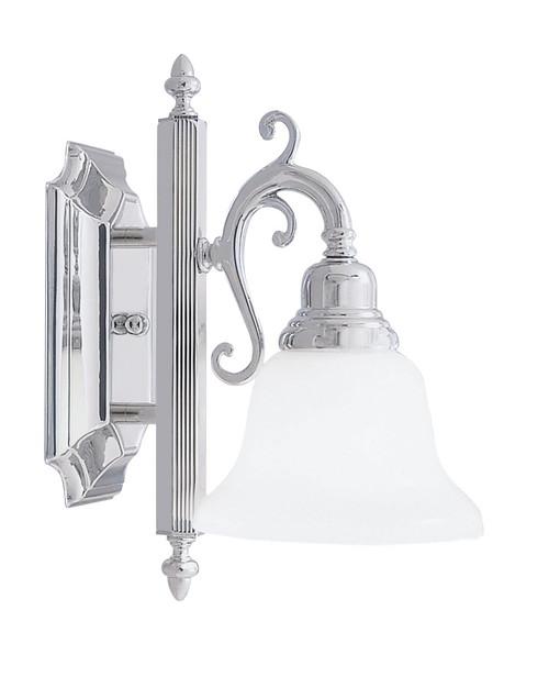 LIVEX Lighting 1281-05 French Regency Bath Light in Polished Chrome (1 Light)
