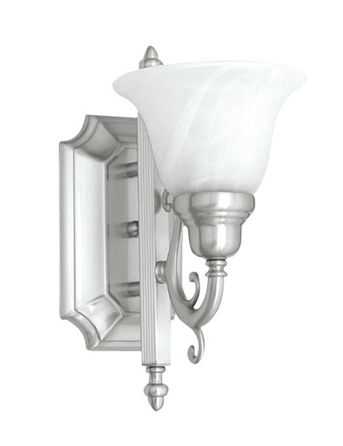 LIVEX Lighting 1281-91 French Regency Bath Light in Brushed Nickel (1 Light)