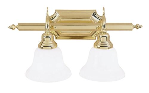 LIVEX Lighting 1282-02 French Regency Bath Light in Polished Brass (2 Light)