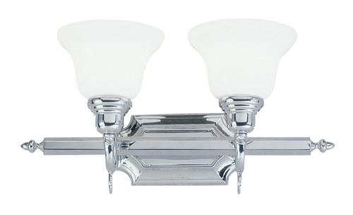 LIVEX Lighting 1282-05 French Regency Bath Light in Polished Chrome (2 Light)