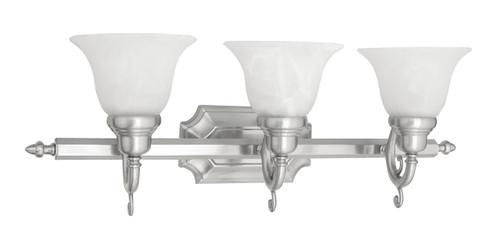 LIVEX Lighting 1283-91 French Regency Bath Light in Brushed Nickel (3 Light)