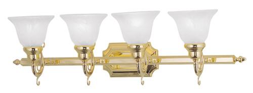 LIVEX Lighting 1284-02 French Regency Bath Light in Polished Brass (4 Light)