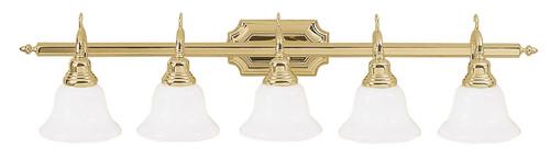 LIVEX Lighting 1285-02 French Regency Bath Light in Polished Brass (5 Light)