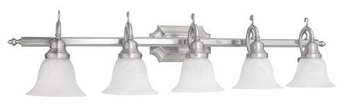 LIVEX Lighting 1285-91 French Regency Bath Light in Brushed Nickel (5 Light)