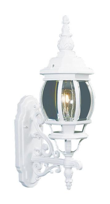 LIVEX Lighting 7520-03 Frontenac Outdoor Wall Lantern in White (1 Light)