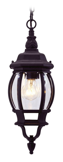 LIVEX Lighting 7523-04 Frontenac Chain Lantern in Black (1 Light)