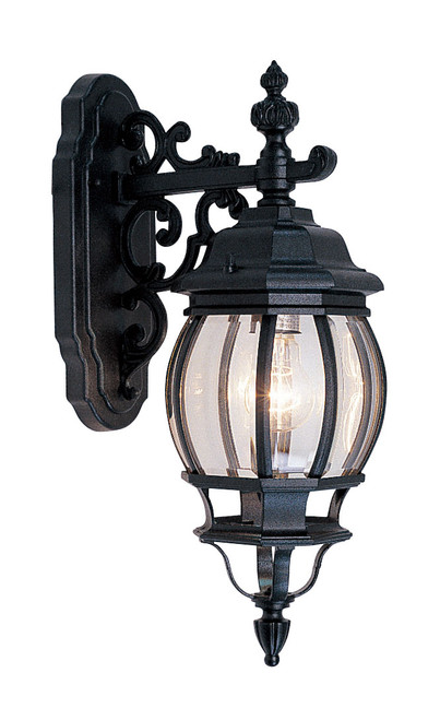 LIVEX Lighting 7706-04 Frontenac Outdoor Wall Lantern in Black (1 Light)