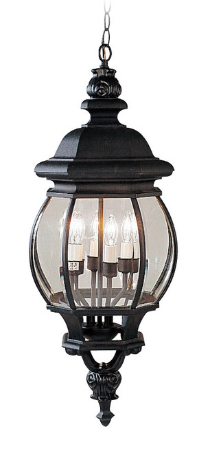 LIVEX Lighting 7705-04 Frontenac Chain Lantern in Black (4 Light)