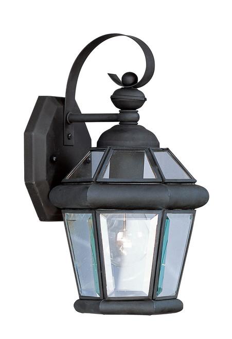 LIVEX Lighting 2061-04 Georgetown Outdoor Wall Lantern in Black (1 Light)