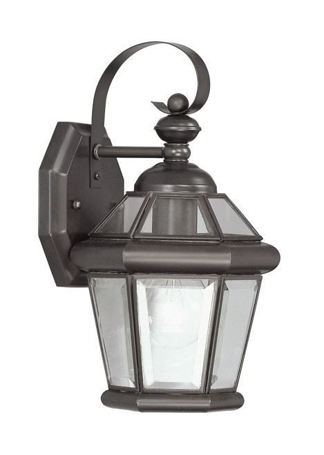 LIVEX Lighting 2061-07 Georgetown Outdoor Wall Lantern in Bronze (1 Light)