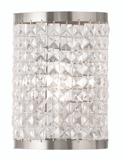 LIVEX Lighting 50571-91 Grammercy Wall Sconce in Brushed Nickel (1 Light)