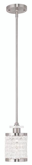 LIVEX Lighting 50560-91 Grammercy Mini Pendant in Brushed Nickel (1 Light)