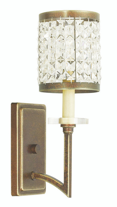 LIVEX Lighting 50561-64 Grammercy Wall Sconce with Hand-Painted Palacial Bronze (1 Light)