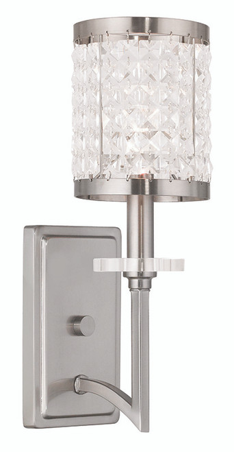 LIVEX Lighting 50561-91 Grammercy Wall Sconce in Brushed Nickel (1 Light)