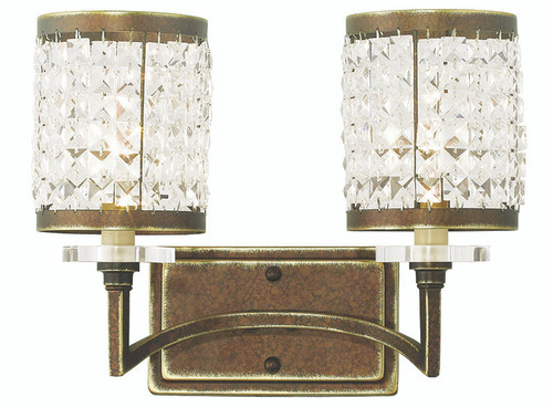 LIVEX Lighting 50562-64 Grammercy Bath Light with Hand-Painted Palacial Bronze (2 Light)