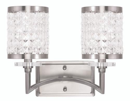 LIVEX Lighting 50562-91 Grammercy Bath Light in Brushed Nickel (2 Light)