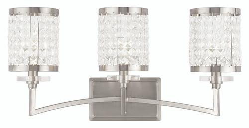 LIVEX Lighting 50563-91 Grammercy Bath Light in Brushed Nickel (3 Light)