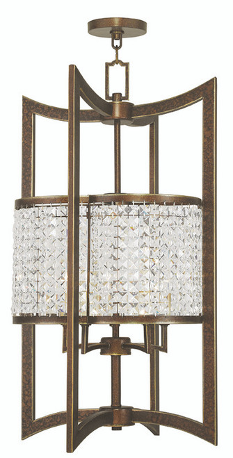 LIVEX Lighting 50569-64 Grammercy Lantern with Hand-Painted Palacial Bronze (5 Light)