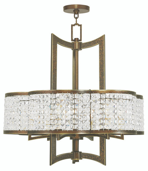 LIVEX Lighting 50576-64 Grammercy Chandelier with Hand-Painted Palacial Bronze (6 Light)
